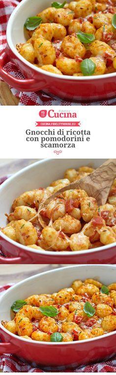 #Gnocchi di #ricotta con #pomodorini e #scamorza