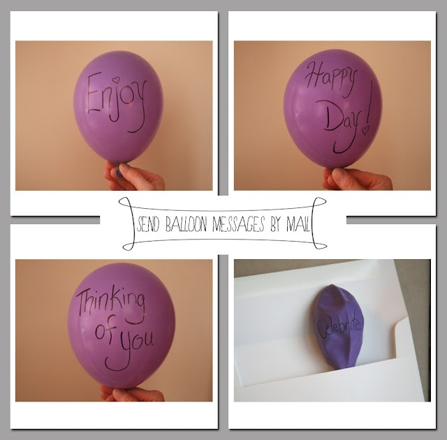The Petit Cadeau: Envelope Gift Series: Balloon Bouquet ~ Send a balloon via mail with a secret message revealed when the balloon is blown up!