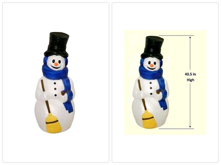 Mold Lighted Christmas Snowman Yard Porch 40.5 in. Outdoor Decoration Display  #christmasdecor