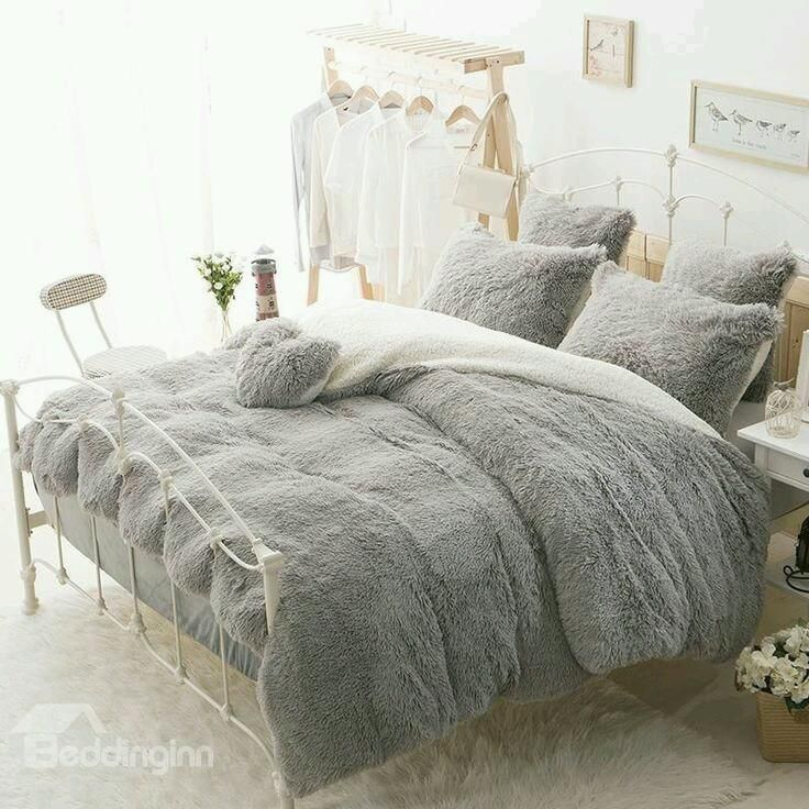 Couvre Lit Fausse Fourrure 1m80 2m3 Supershop Duvet Bedding Fluffy Bedding