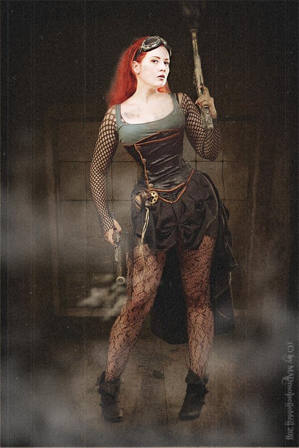 Fashion Huntress by *fuchsiart   Steampunk character