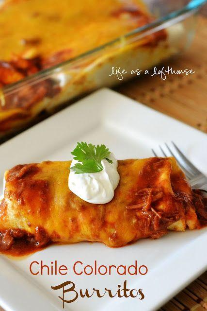 Chili Colorado burrito, in the crock pot