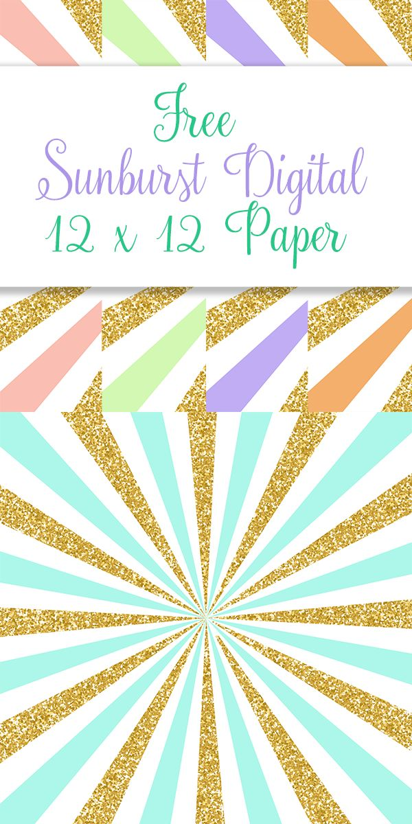 Free Sunburst Digital Papers: Today I have for you some pretty pastel Sunburst Digital Papers with a touch of gold glitter! Can be used for personal and commercial use. To download click the following: Page 1    Page 2    Page 3    Page 4    Page...Read More »