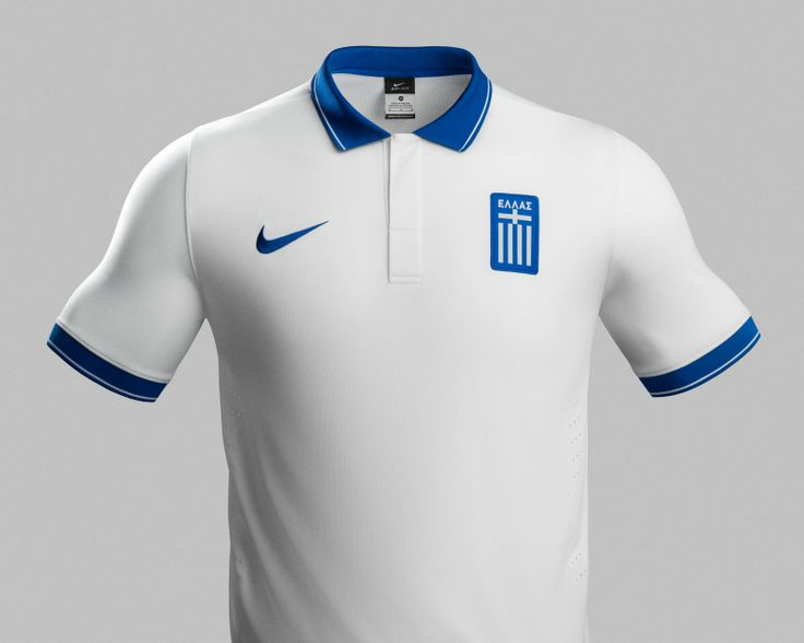 blank soccer jerseys greece 2014 world cup home and away shirts released. the new greece 2014 jersey