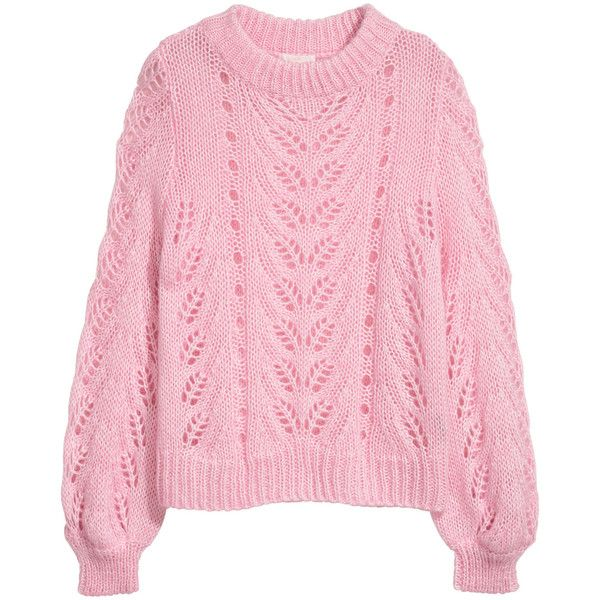 Knit Sweater $34.99 (2,270 INR) ❤ liked on Polyvore featuring tops, sweaters, h&m, pink knit top, ribbed knit top, knit sweater, ribbed top and knit top