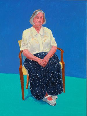 David Hockney among friends: a triumphant return to portraiture | Art and design | The Guardian