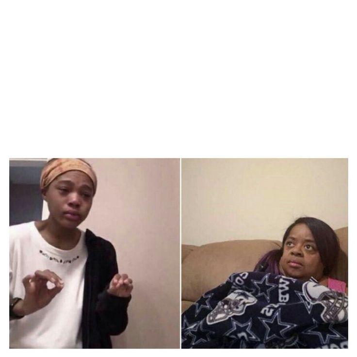 me explaining to my mom meme template | Piadas memes ...