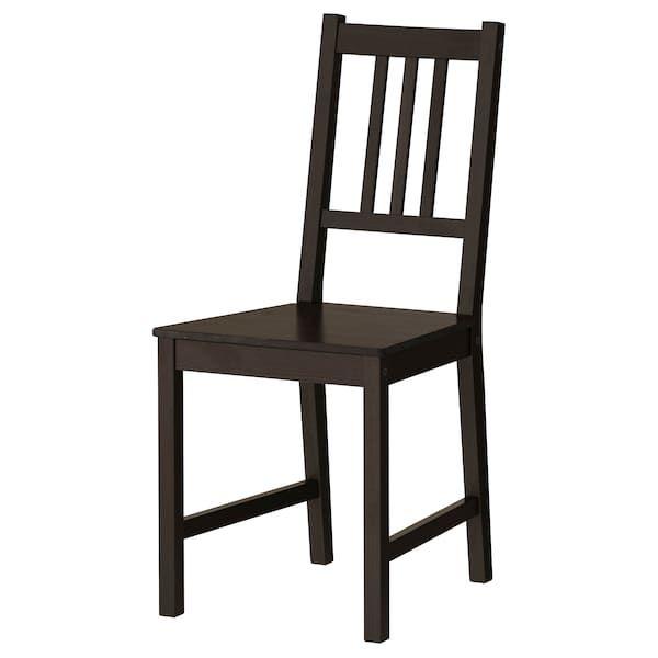 Stefan Tuoli Ruskeanmusta Ikea Cheap Dining Room Chairs Ikea Chair Kitchen Chairs Ikea