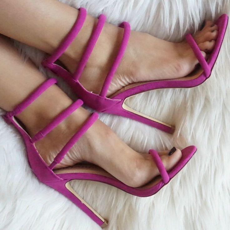Triple Strap Sandal High Heels