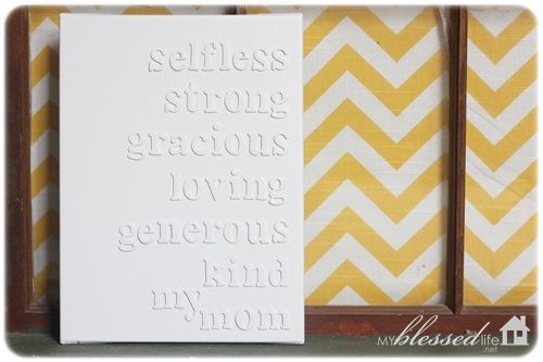 DIY Mother's Day Canvas