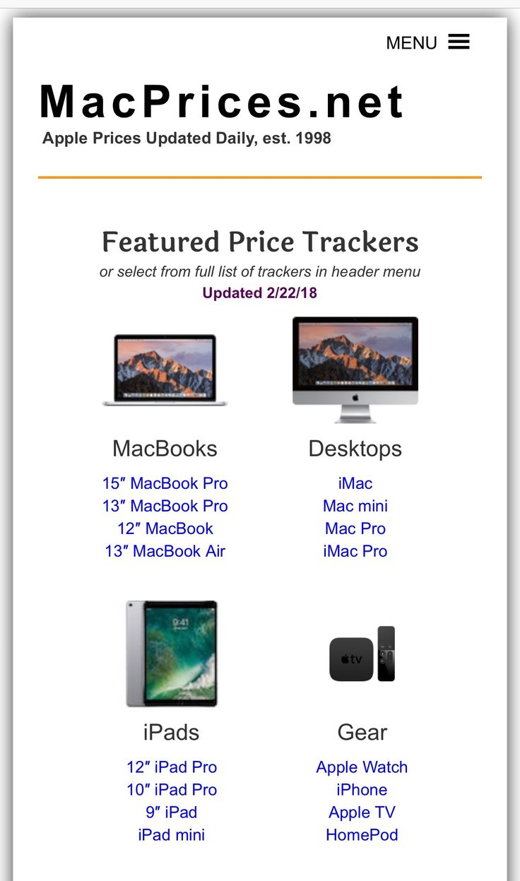 Looking for a new Mac or iPad? Scan prices from Apple resellers on our site. Our Apple award-winning price trackers are updated 24/7: http://www.macprices.net #apple #macbook #macbookpro #macbookair #imac #macmini #macpro #imacpro #ipad #ipadpro #iphone #ipadpro #ipod #airpod #homepod
