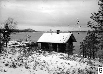 Soapstone was shipped from here beside a sauna on the lake Pielinen, North Karelia.