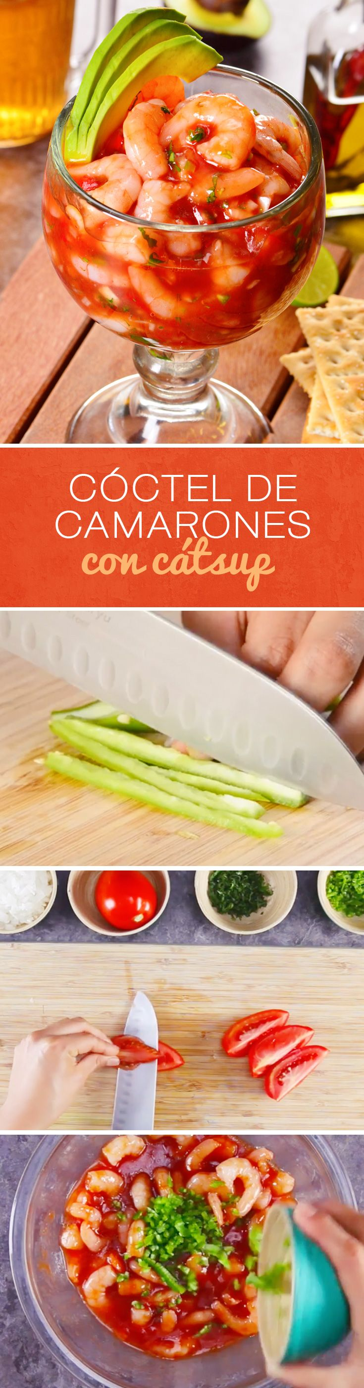 Receta de cóctel de camarones con cátsup al estilo mexicano. Este cóctel de mariscos es una de las mejores recetas para #cuaresma
