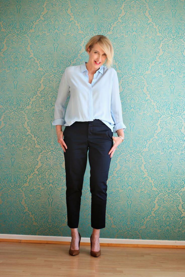 Perfekt sitzende Hose, Jeans, NYDJ, Outfit, Hose für das Büro, Seidenbluse,