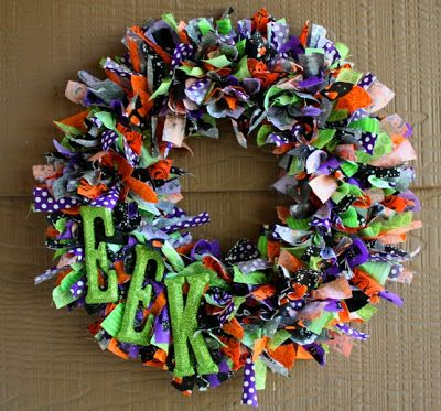 halloween ribbon wreath tutorial