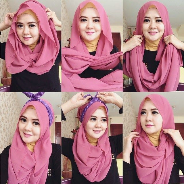 Image Result For Tutorial Hijab Pakai Bandana