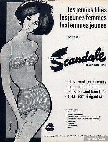 Scandale (Lingerie) 1964 Girdle, Bra, Pierre Couronne
