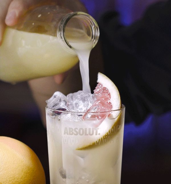 Absolut Ruby Red with Grapefruit Juice