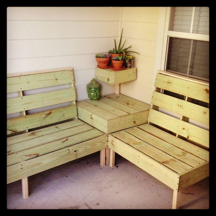 Pallet Deck Furniture Couch