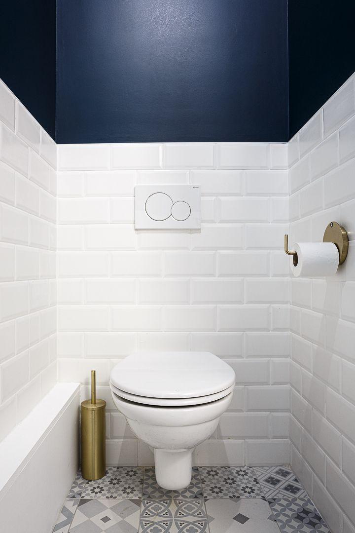 Toilettes Tendance Avec Carrelage Metro Relooking Toilettes Decoration Toilettes Idee Deco Wc Suspendu
