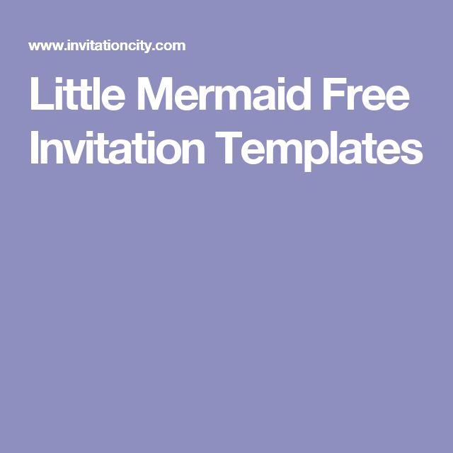 Little Mermaid Free Invitation Templates