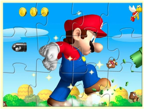 Play game Super Mario Jigsaw Flash free online games - Faxo