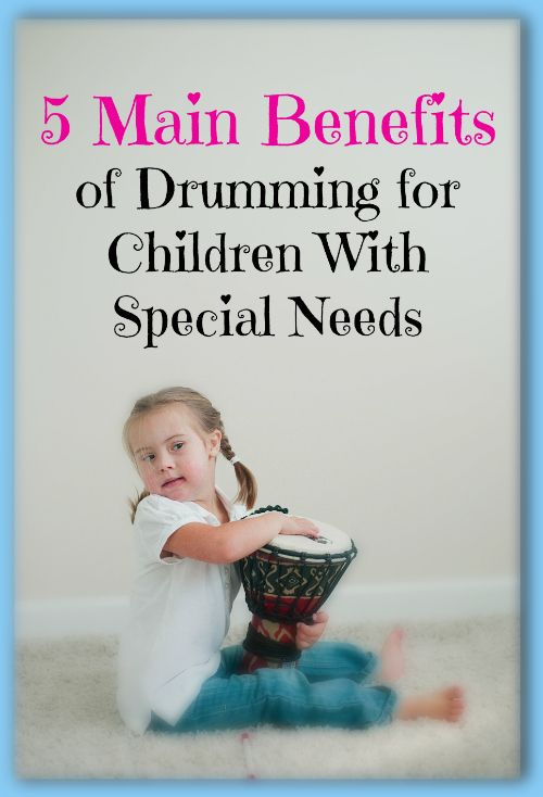 5 Main Benefits of Drumming for Children With Special Needs.  For song to help facilitate drumming go to: www.mewsicmoves.com/products