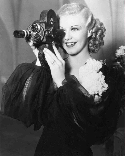 "Ginger Rogers behind the scenes of ""Top Hat"" (1935)"