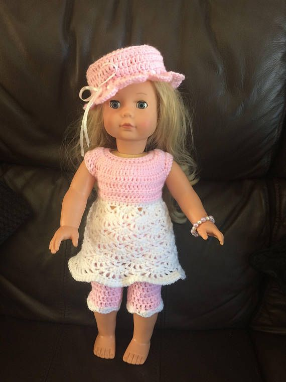 PDF Crochet pattern for 18 inch doll American Girl Doll or
