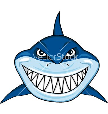 smiling shark cartoon vector 894138 by dagadu on Mako Shark Fishing Shark Scale Clip Art