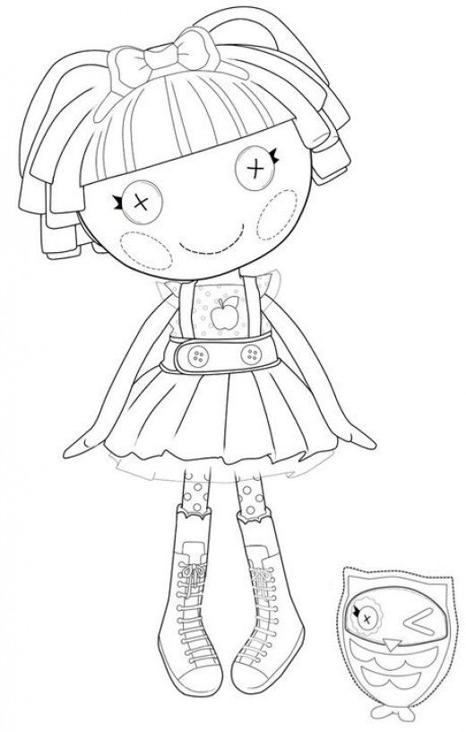 17 Best Images About Colouring Pages On Pinterest Printable Lalaloopsy Coloring Pages
