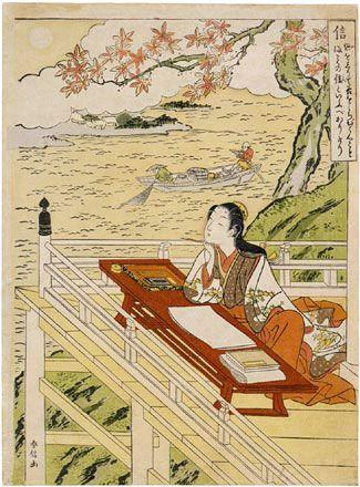 「源氏物語」を構想する紫式部