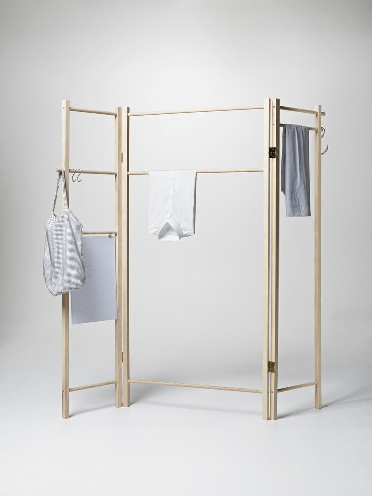 Superb Designed by Anonym Design the foldable Degrees Foldable Garment Rack from Nomess in Copenhagen is made of solid ash go to Nomess for ordering