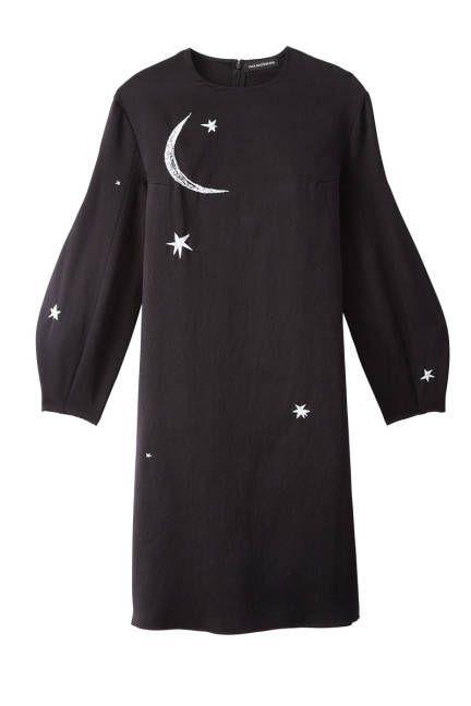 Designer to watch: Vika Gazinskaya. Night print silk dress.