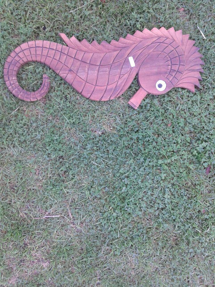 Pretty WOODEN sea horse for sale!