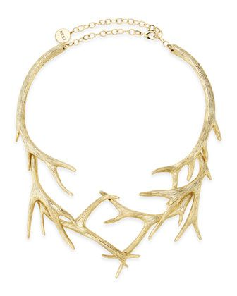 Gold Antler Collar Necklace by NEST Jewelry at Neiman Marcus.