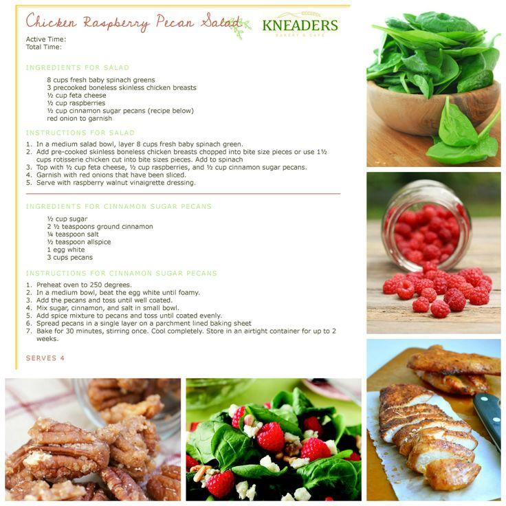 Chicken Raspberry Pecan Salad. #Kneaders