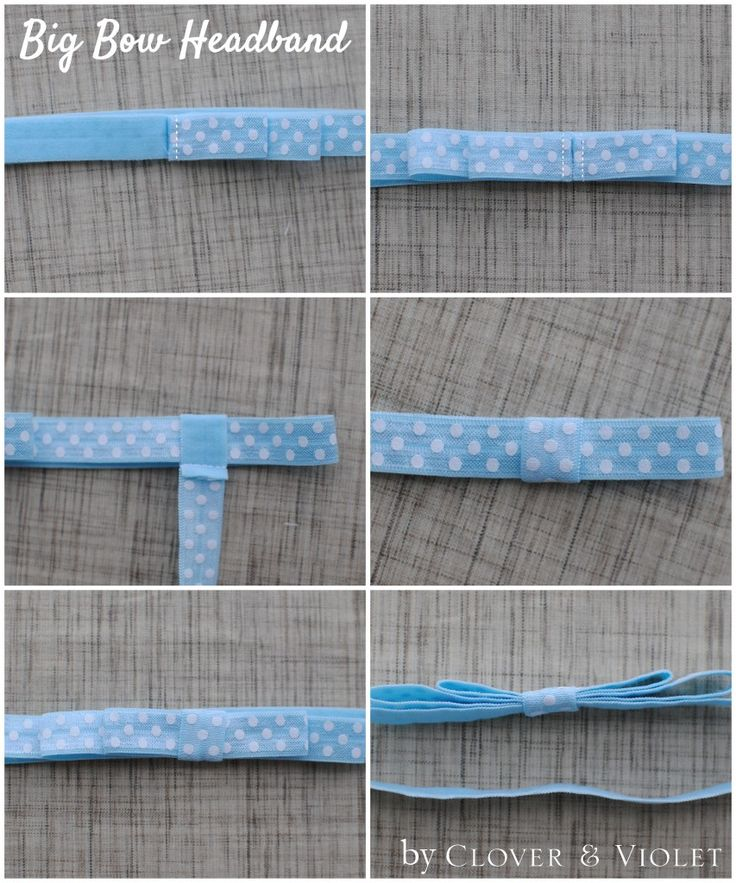 Clover & Violet — Big Bow Fold Over Elastic Headbands {tutorial}