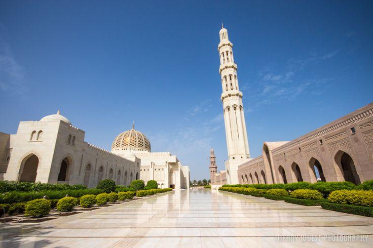 Die große Moschee in der omanischen Hauptstadt Maskat