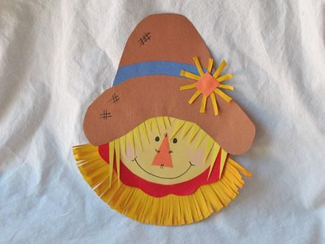 Paper Plate #Scarecrow. Great art idea for #fall!