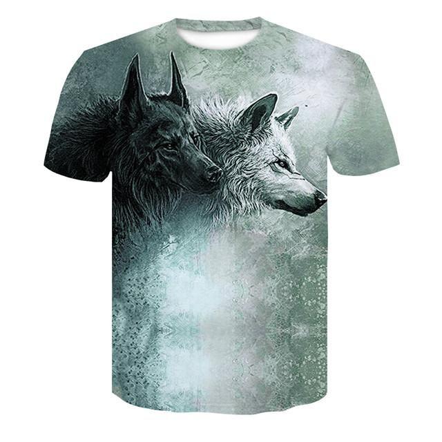 55cbff77c Wolf 3D T-shirt   T-shirt   T shirt, Wolf t shirt, Fashion