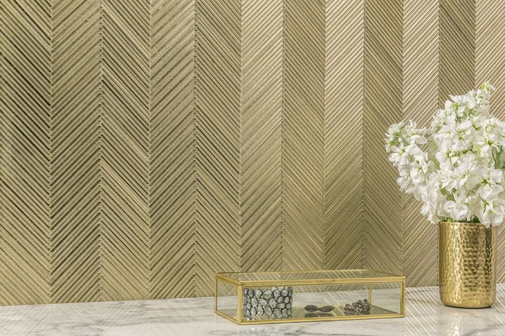 forever elegant gold silk ikat glass mosaic by akdo created by tiny matchstick pieces that let