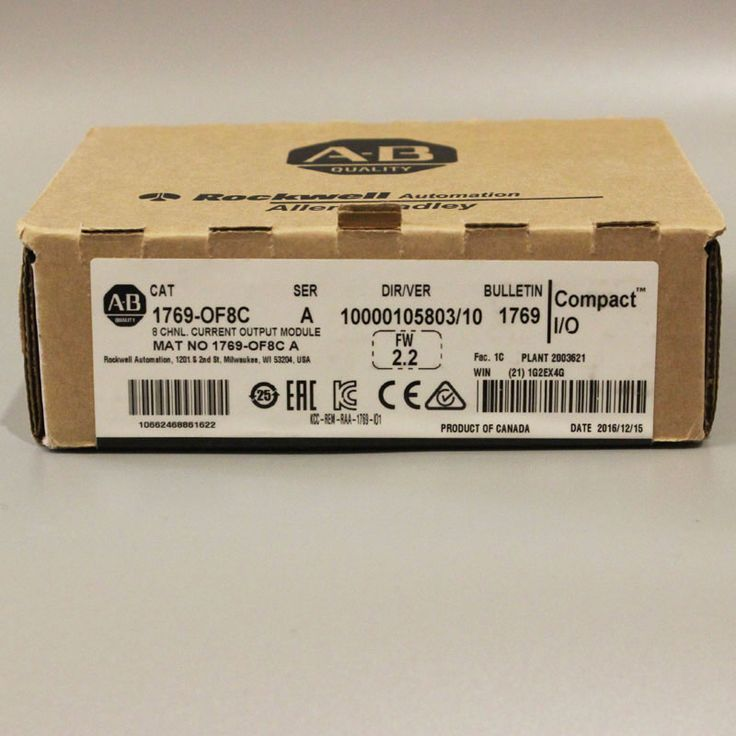 Allen Bradley Compact I/O 1769-OF8C SER A Current Output Module