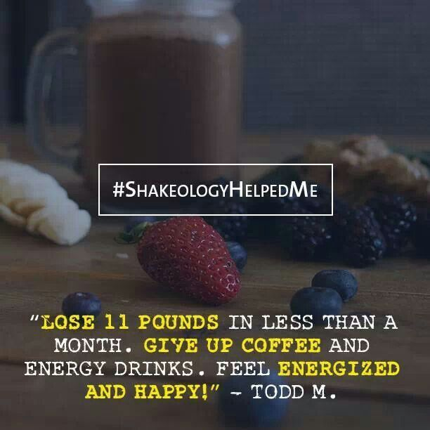 Shakeology review: Lost 11 pounds in less than a month! http://www.onesteptoweightloss.com/shakeology-results