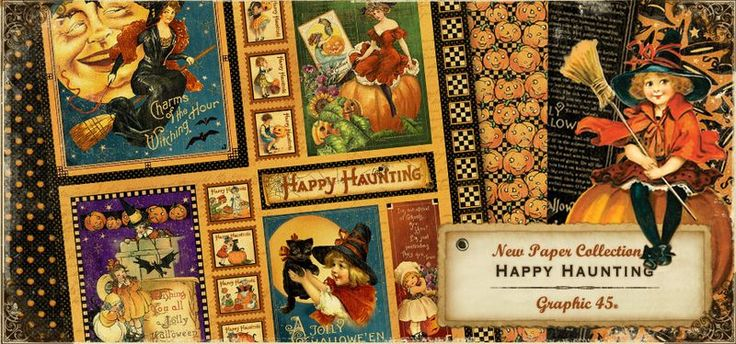 The winner of this 24 hour contest was @Dawn Edwards! Congratulations, Dawn, please email info@g45papers.com, Dawn, to claim your prize. Thanks everyone for participating!: Vintage Halloween, Halloween Cards, Halloween Paper, Graphic45 Paper, 45 Happy, Graphics 45, 45 Halloween, Happy Haunted, Graphic45 Collection