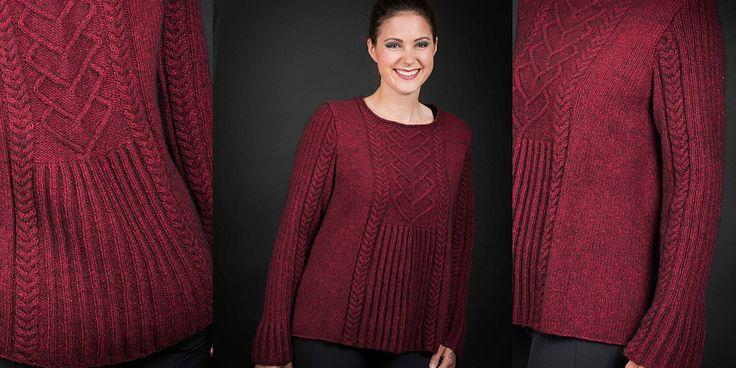 Расклешенный пуловер спицами с описанием. Обсуждение на LiveInternet - Российский Сервис Онлайн-Дневников