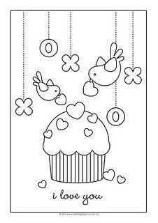 カップケーキとバーディー 1141 無料イラスト