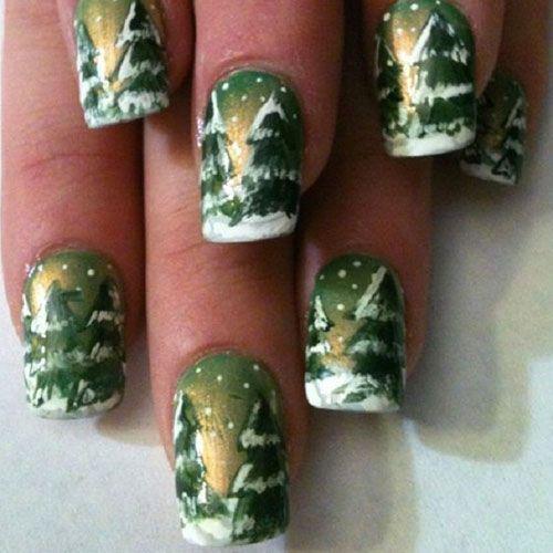 Christmas Tree Toe Nail Designs : Christmas nail art designs