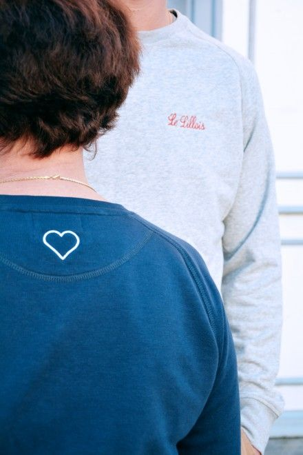 Collection Capsule N°5 Les Comptoirs d'Orta /  www.lescomptoirsdorta.com / Sweat La Lilloise & Le Lillois #lescomptoirsdorta #sweat #grey #gris #navy #marine #Lille #Lilloise #Lillois #France #French #old #woman #mother #boy #son #fashion #tendance #family #love