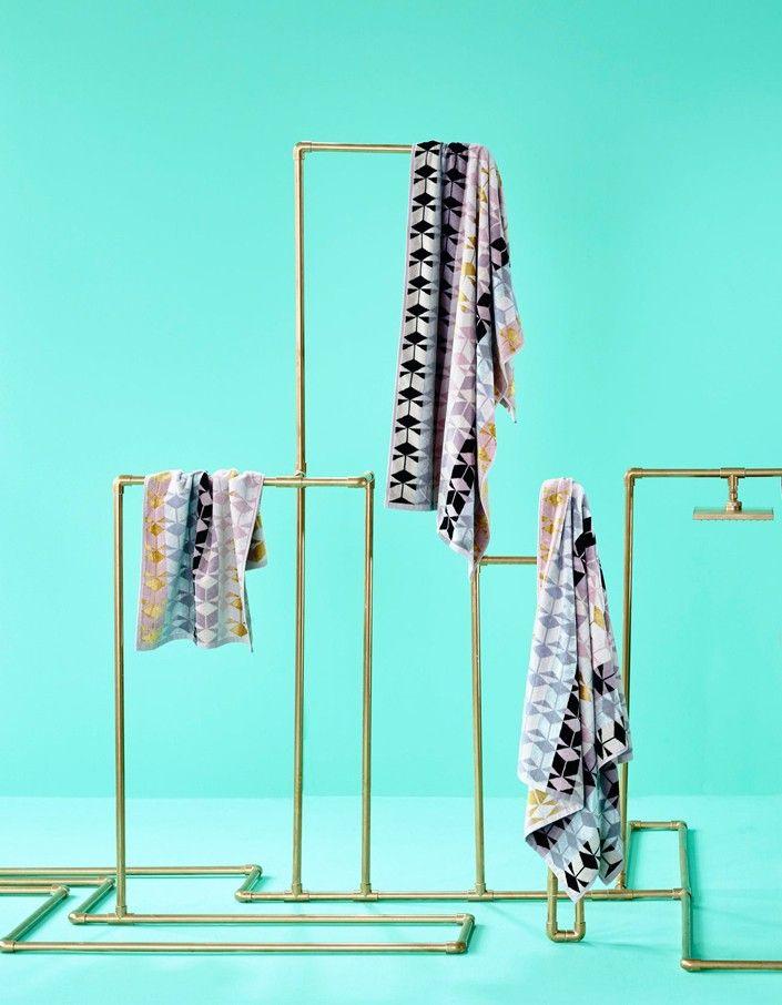 Fidelis Hand Towel - Pink/Grey/Black - Superette | Your Fashion Destination.